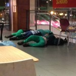 Sleeping Bodies at the Airport